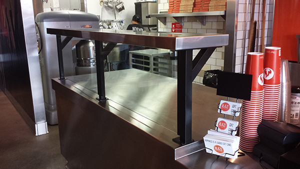 Food barriers for Blaze Pizza