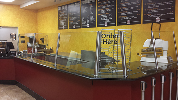 Food barriers for Boss Pizza